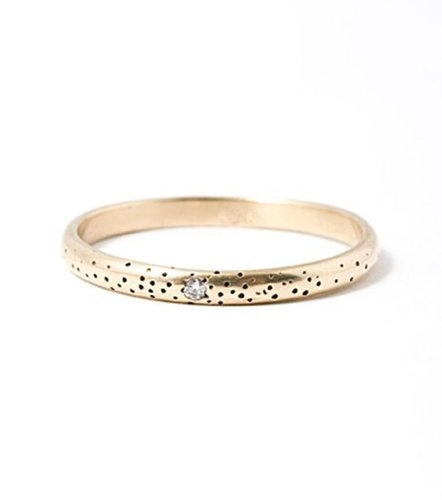 catbird :: shop by category :: Jewelry :: Rings :: Speckled Band with Diamond