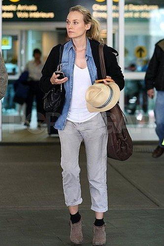 Diane Kruger Dons Menswear