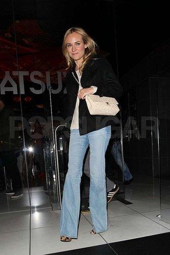 Diane Kruger Tries Wide-Leg Jeans
