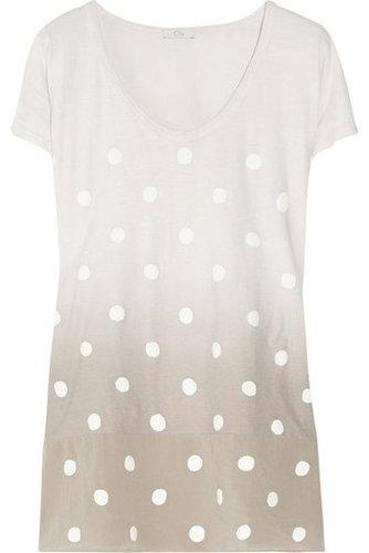 CLU|Ombré polka-dot cotton-jersey T-shirt|NET-A-PORTER.COM