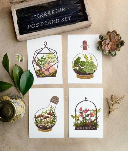 Terrarium Postcard SET 8pcs