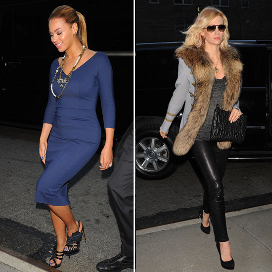 New Mums Beyonce and January Jones Step Out in NYC for an Obama Fundraising Night: Who Looked the Most Fab?