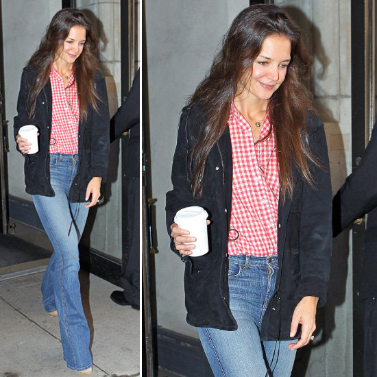 Katie Holmes Gingham Blouse