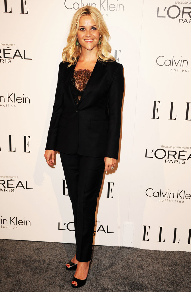Reese Witherspoon in Black Suit at 2011 Elle Event