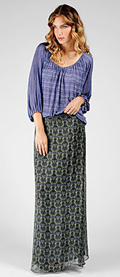 Ella Moss Official Store, ELLA-3554 Gypsy Maxi Skirt, ellamoss.com