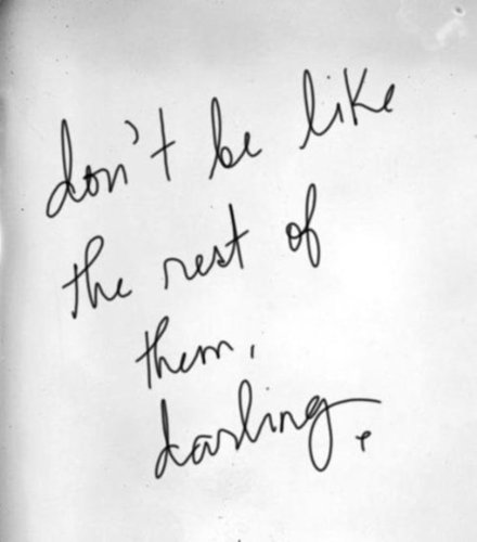 don't be.