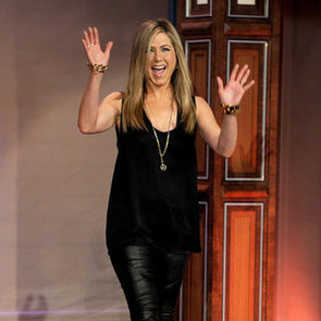Celebs in Black Leather Pants
