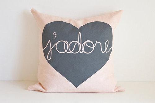 Heart Cushion - j'adore