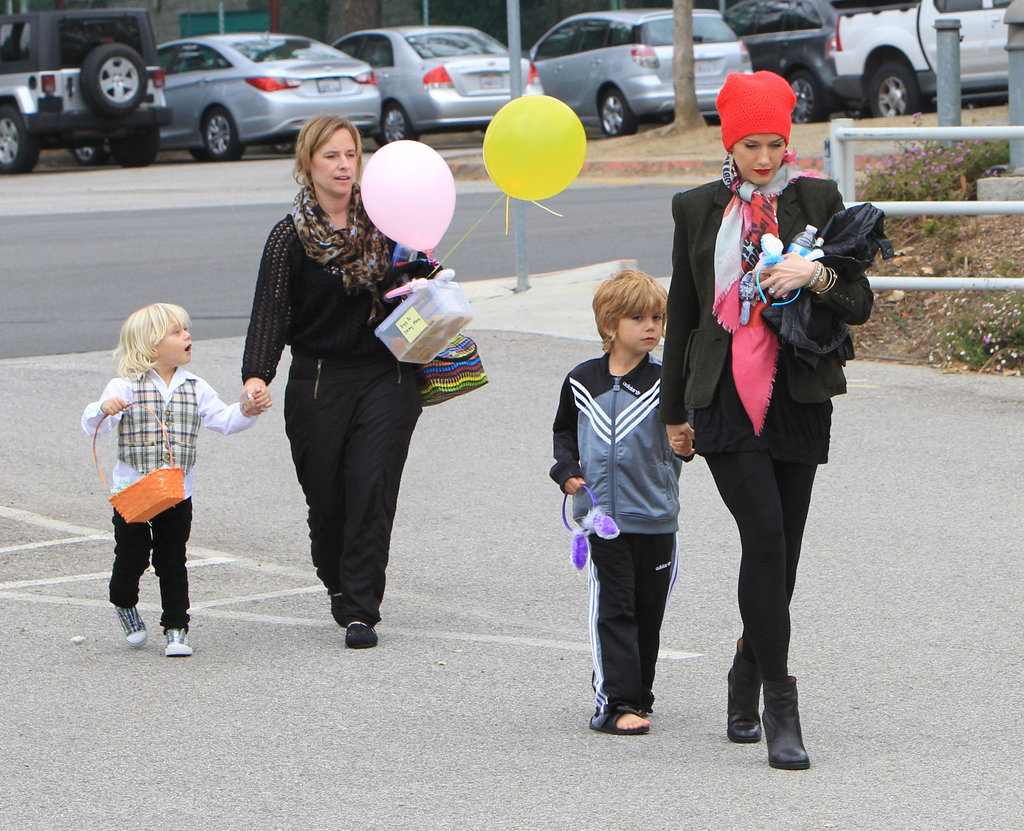 Gwen Stefani went out in LA Friday with sons Zuma Rossdale and Kingston Rossdale.