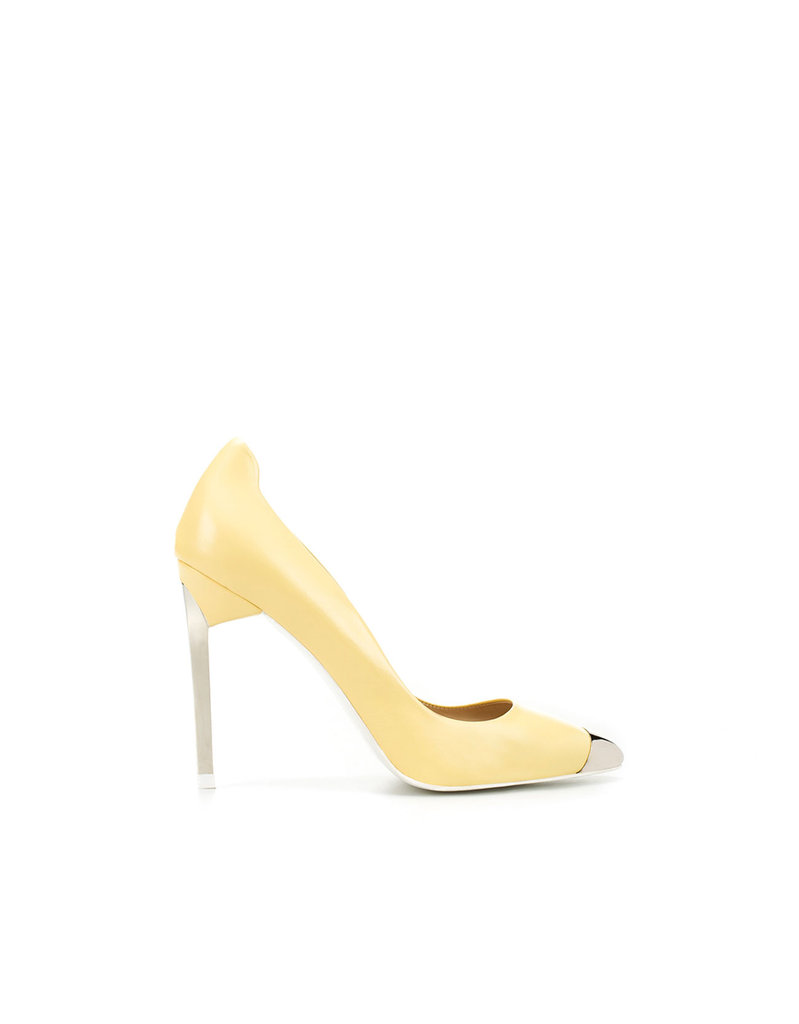You can check off your Spring trend check list with these — a pastel finish and a metallic cap toe are on par for the same pairs we saw coming down the Spring '12 runways.  Zara Court Shoe With Metal Toe Cap ($129)