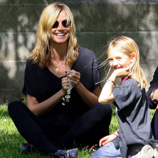 Heidi Klum Wearing Flowers in LA Pictures