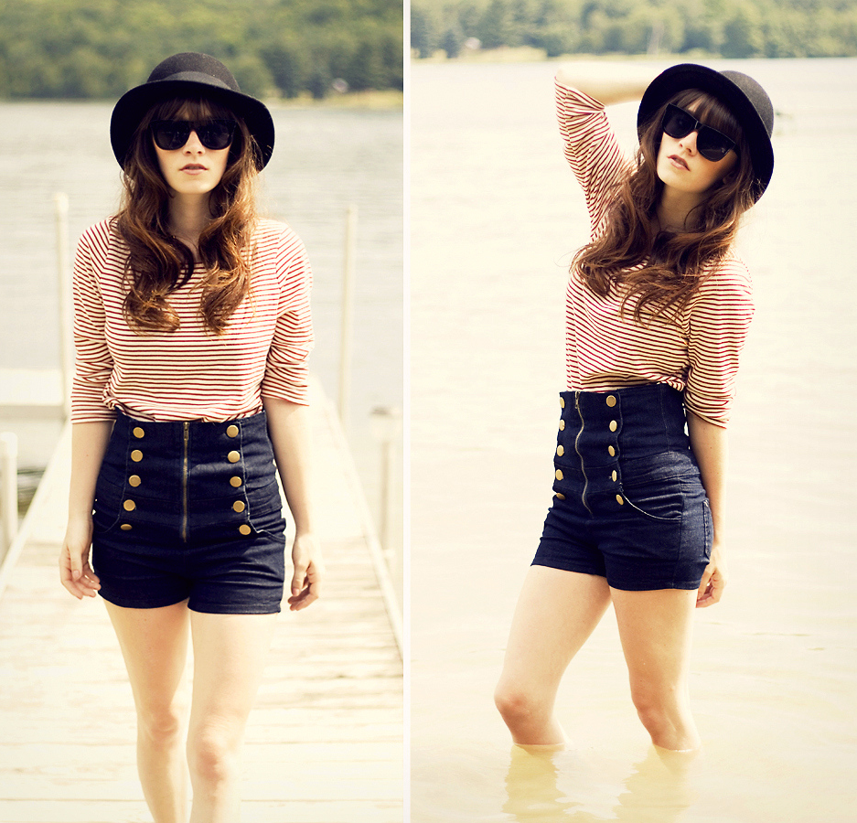 high waisted shorts designs - photo #44