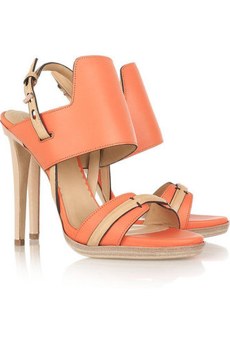Reed Krakoff|Two-tone leather sandals |NET-A-PORTER.COM
