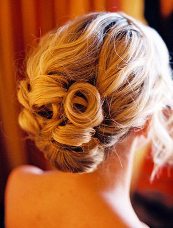 Vancouver stylist Keely Anderson created this perfectly coiled chignon.