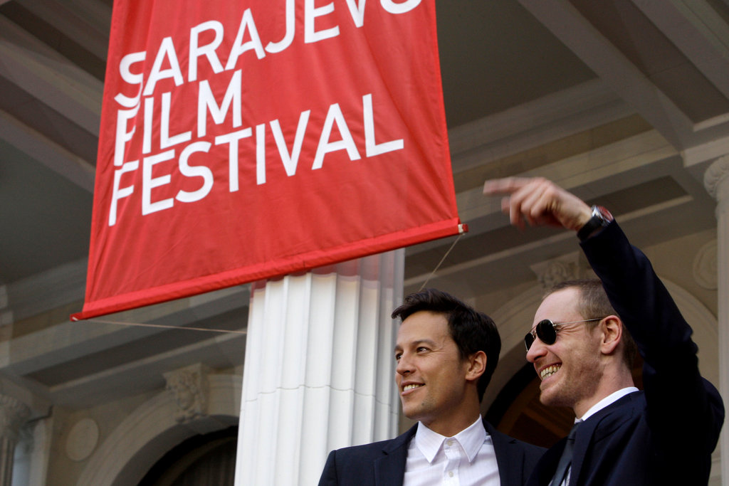 Michael Fassbender and his Jane Eyre director Cary Fukunaga  let loose at the Sarajevo Film Festival in July 2011.