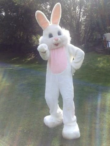 Victoria Beckham met an Easter bunny who impersonated Posh Spice.