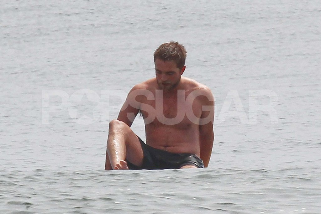 Shirtless Robert Pattinson Plays on the Beach — See Over 100 Pictures!