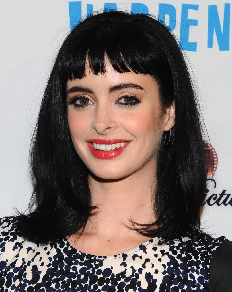 Krysten Ritter gave a smile at the premiere of Life Happens.