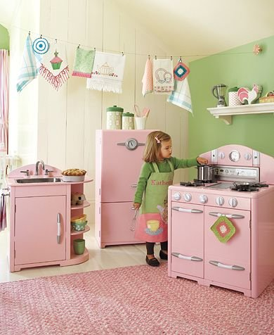 Pottery Barn Kids Pink Retro Kitchen Collection