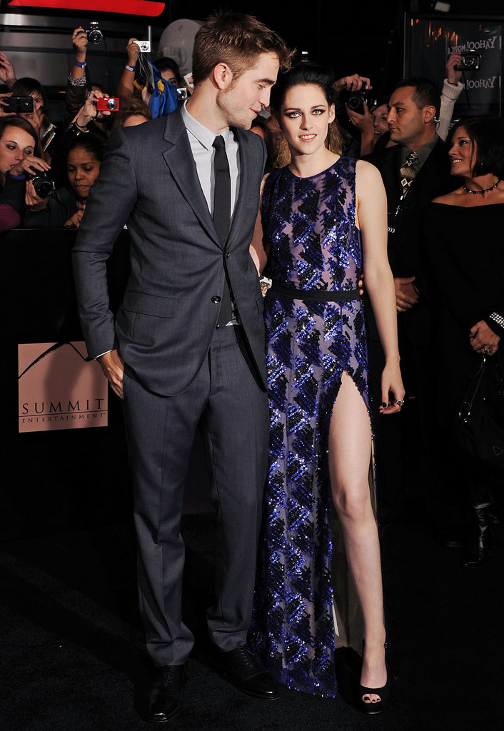 Robert Pattinson could not take his eyes off Kristen Stewart for the Breaking Dawn Part 1 premiere in LA in November 2011.