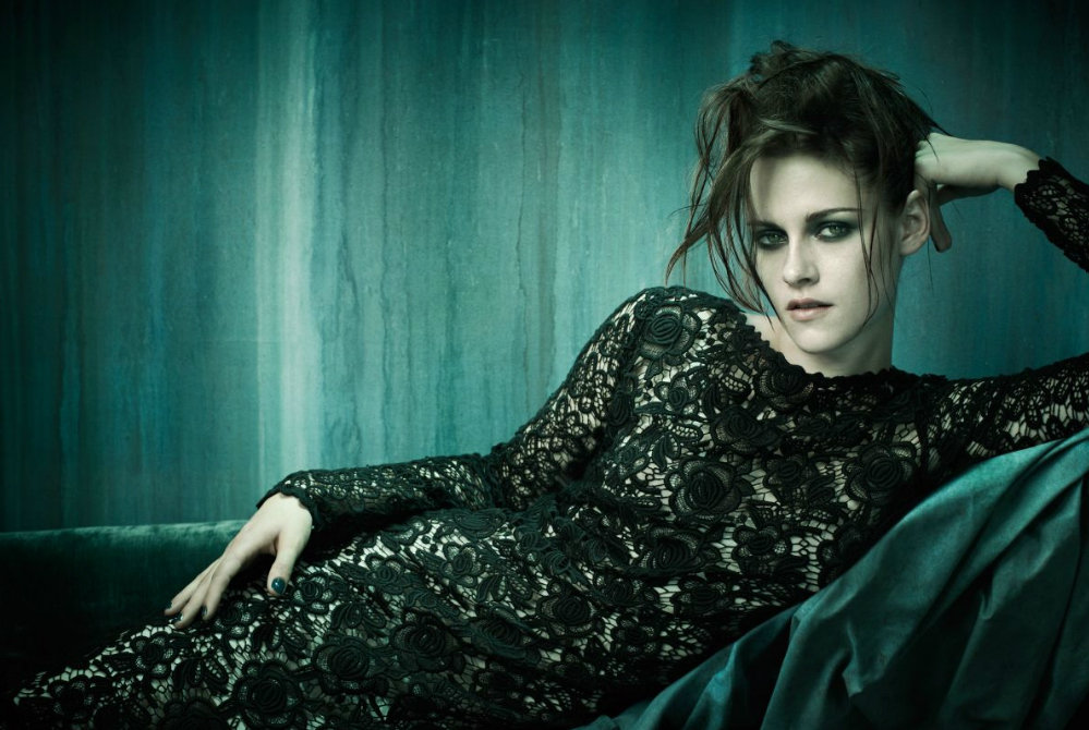 Kristen Stewart donned black lace for a spread in Vogue Italia's November 2011 issue.
