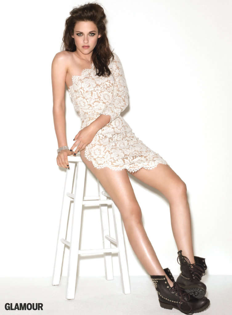 Kristen Stewart looked sexy in lace in Glamour's November 2011 issue.