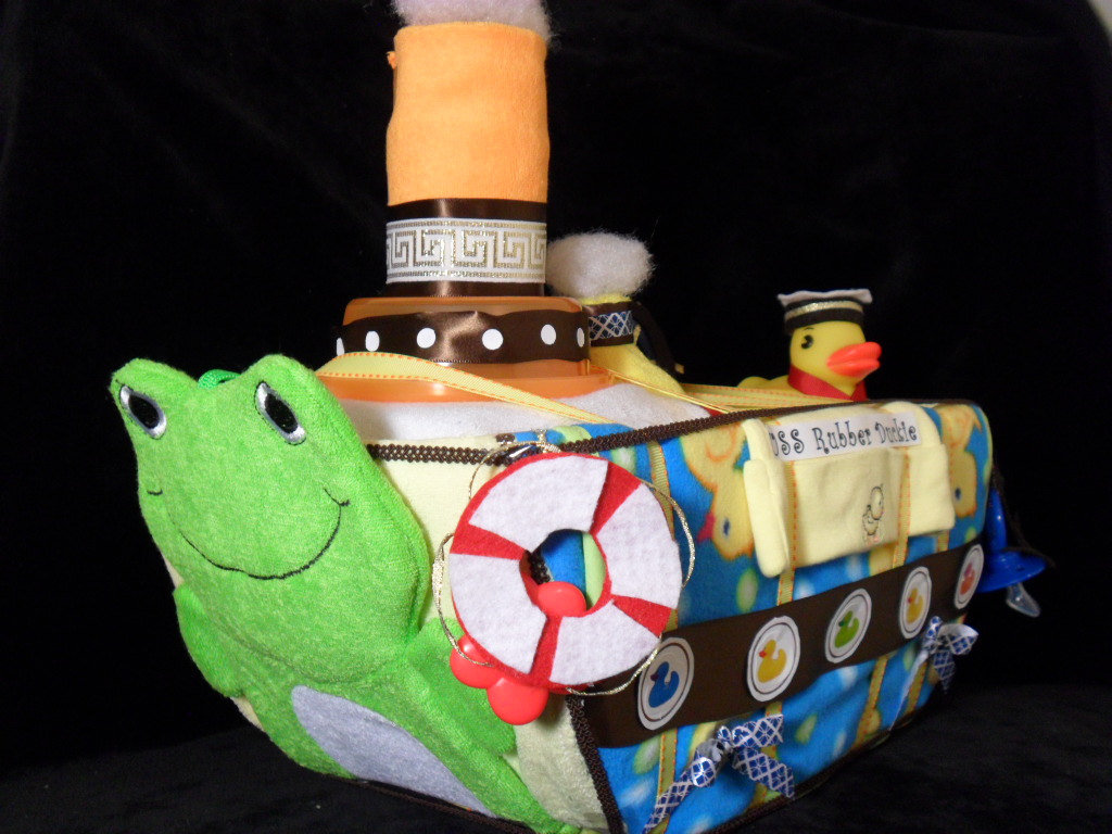 Rubber Duckie Diaper Boat