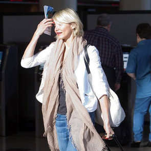 Cameron Diaz Flying Out of LAX Pictures