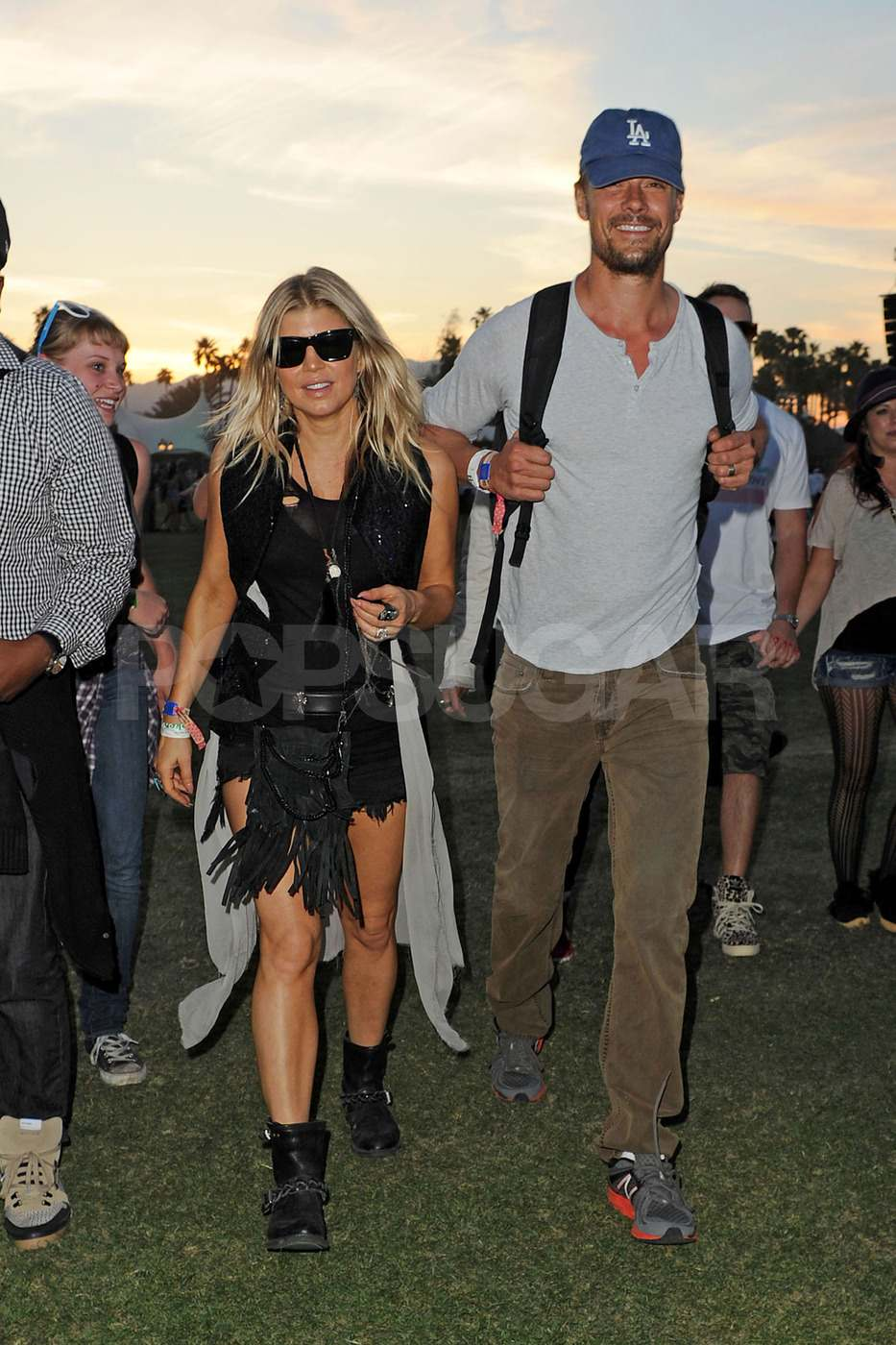 Fergie and Josh Duhamel popped up at the festival on the final day.