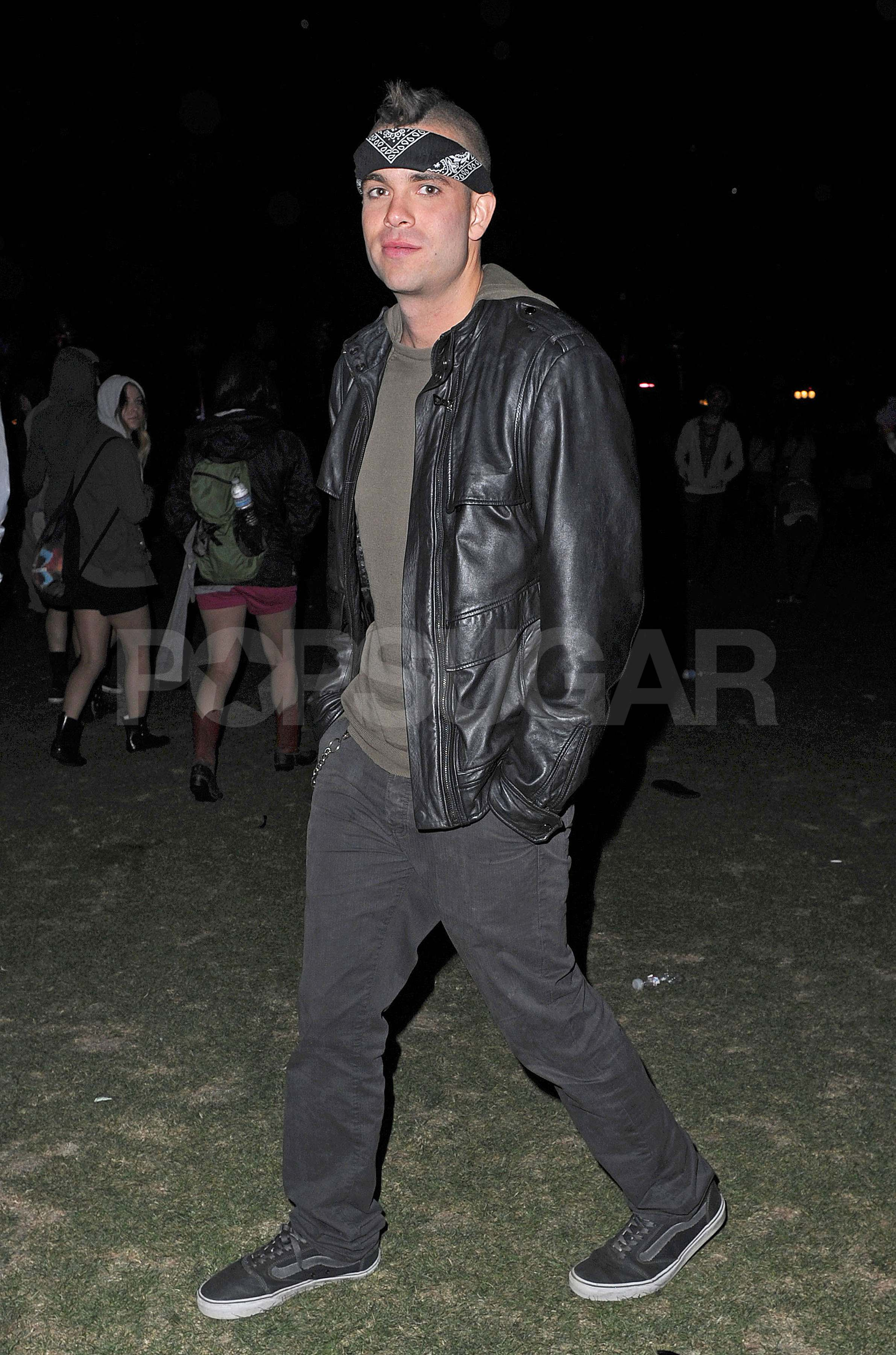 Mark Salling was dressed for the chilly weather Saturday night.