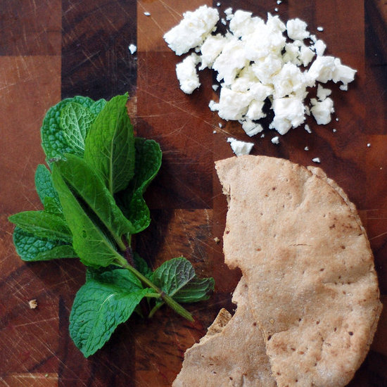 Pita Bread With Feta Cheese and Mint
