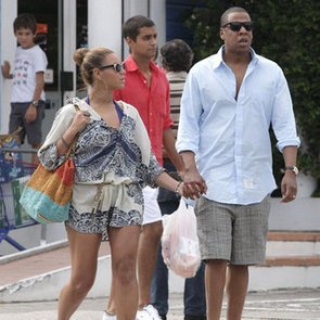 Beyonce Paisley Cover-Up in St. Barts