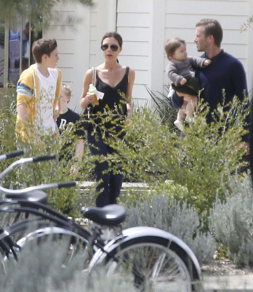 David Beckham and Victoria Beckham spent some quality time with their kids on Easter.