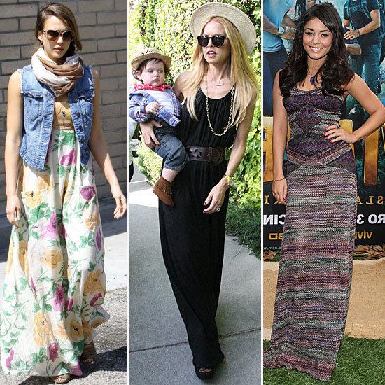 Celebrity Maxi Dress Looks