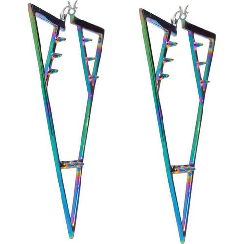 Pamela Love Spectrum Triangle Spike Earrings