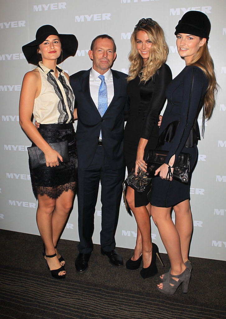 Francis, Tony and Bridget Abbott, and Jennifer Hawkins