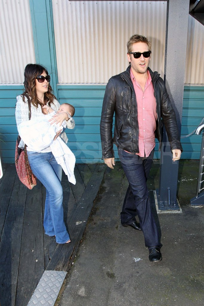 Lindsay Price and Curtis Stone took baby Hudson to Australia.