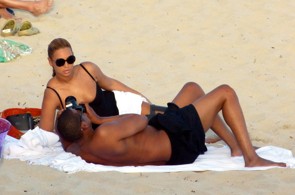 Jay-Z took pictures of Beyonce.