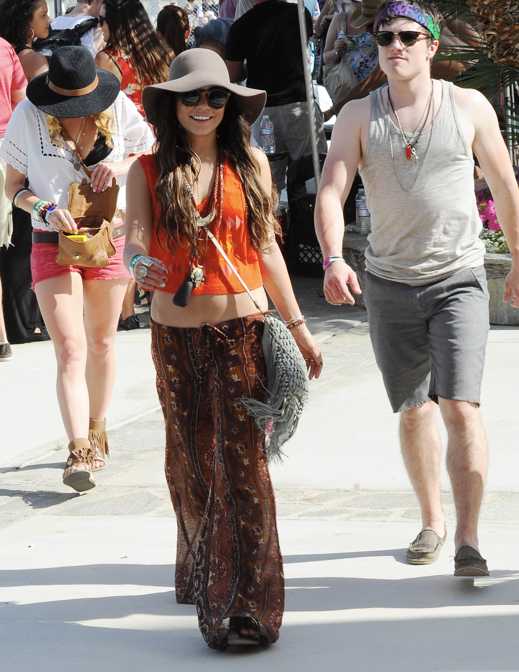 Vanessa Hudgens showed off her hippie style in 2011.