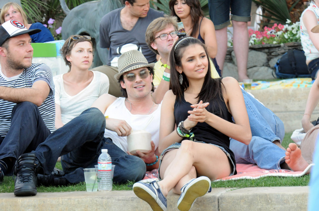 Vampire Diaries sweeties Ian Somerhalder and Nina Dobrev enjoyed Coachella together in 2011.