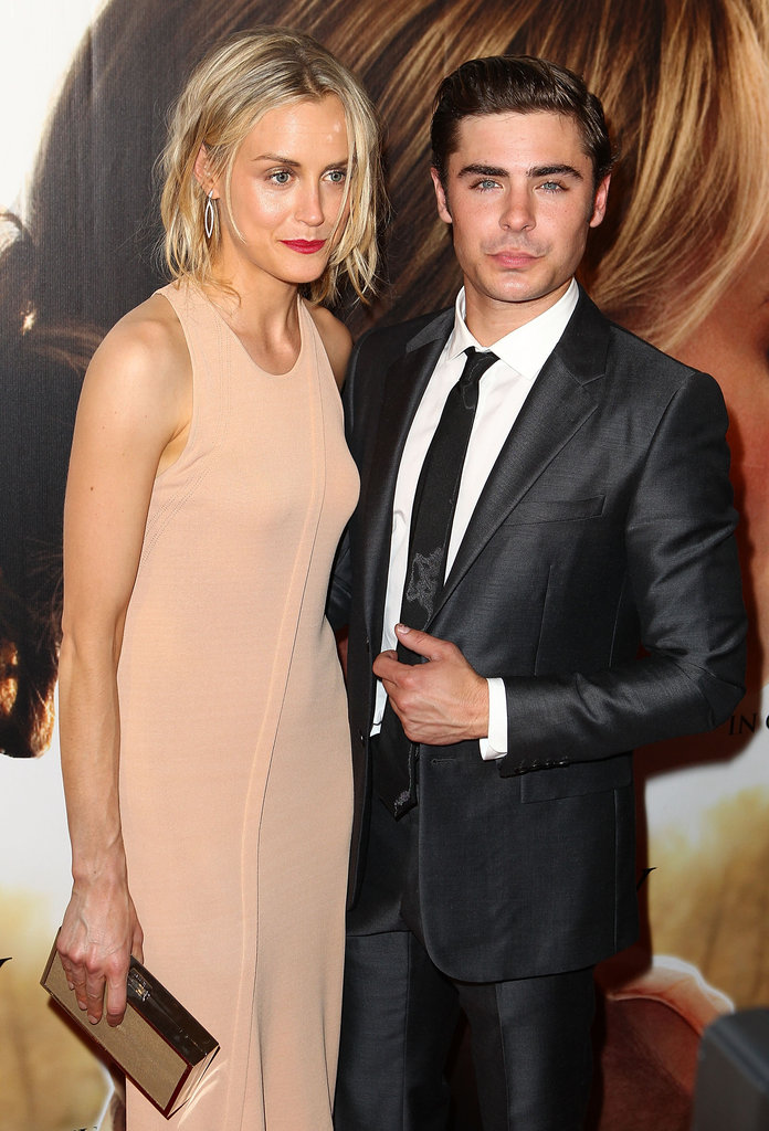 Taylor Schilling and Zac Efron posed together at The Lucky One premiere in Melbourne.