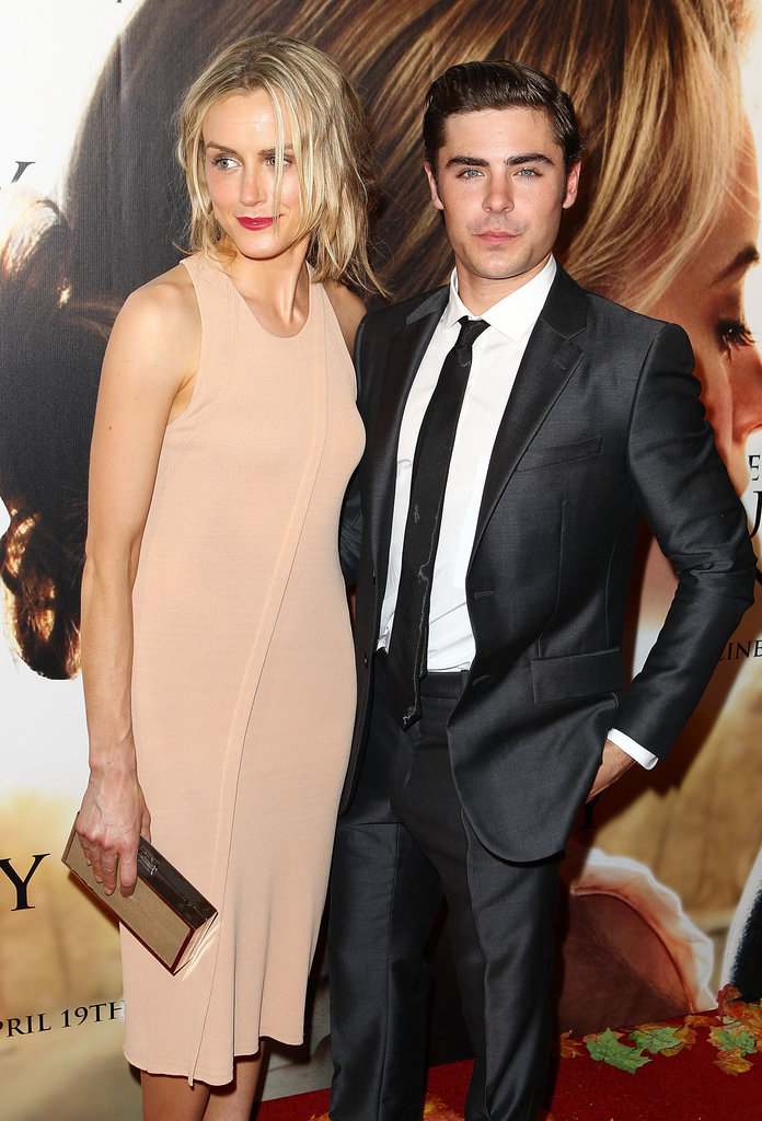 Taylor Schilling and Zac Efron at The Lucky One premiere in Melbourne.