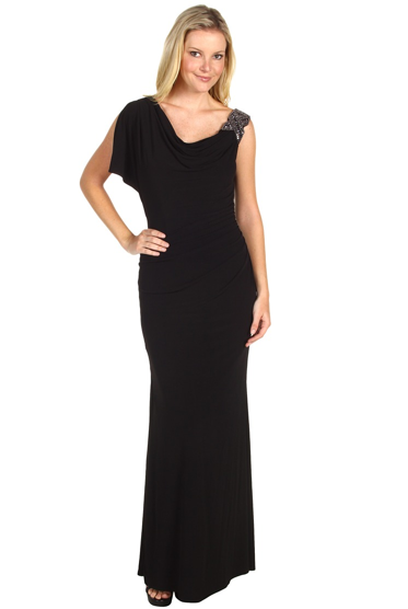 Laundry by Shelli Segal asymmetric draped gown ($295)