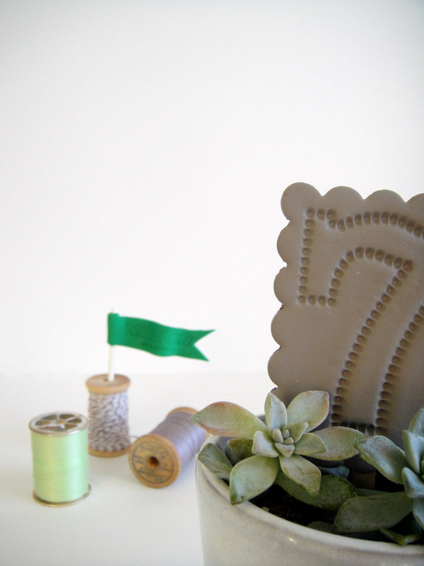 Clay Table Numbers and Flags
