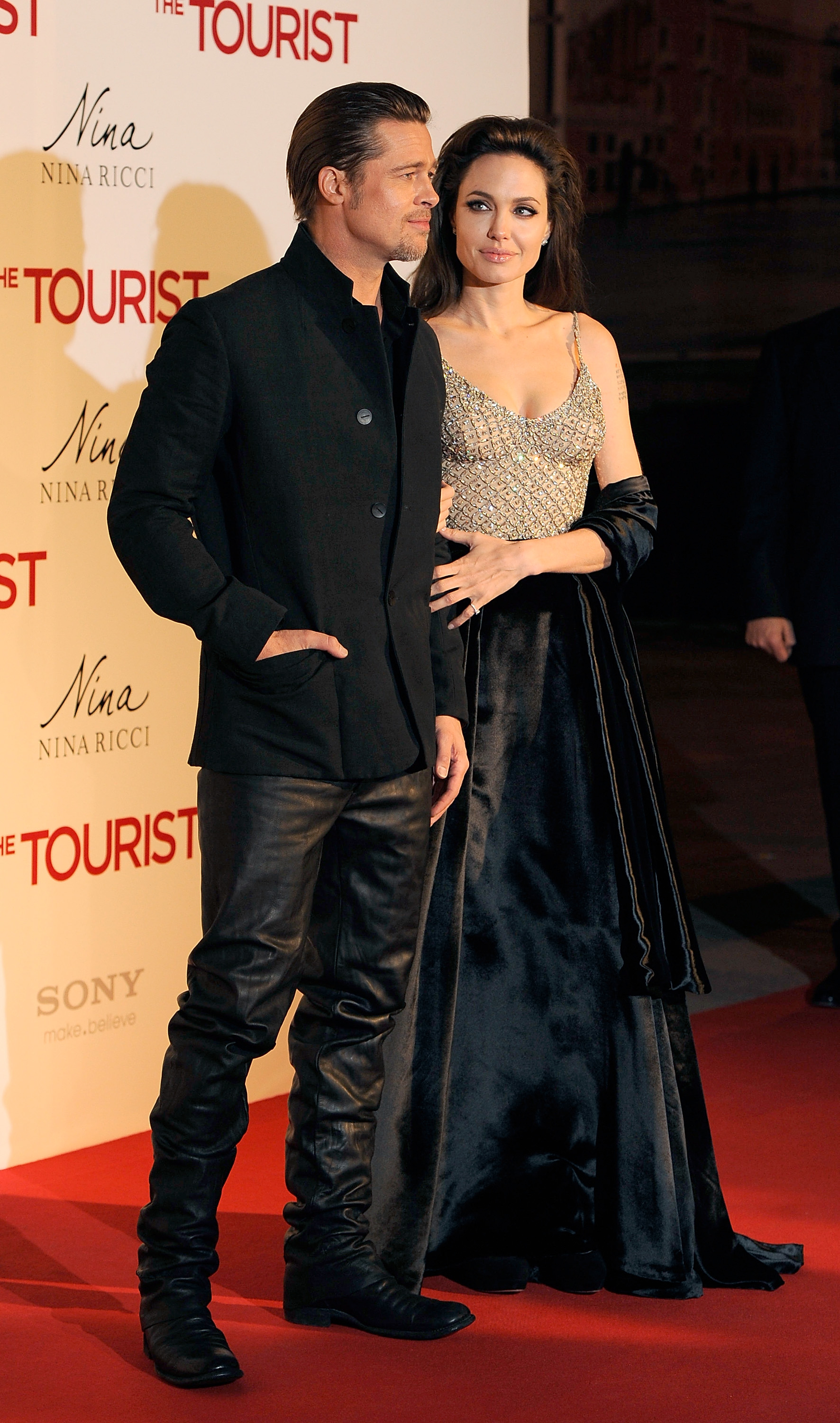 Angelina Jolie sparkled in December 2010 at the Madrid premiere of The Tourist.