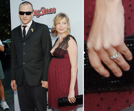 heath and michelle wearing wedding rings