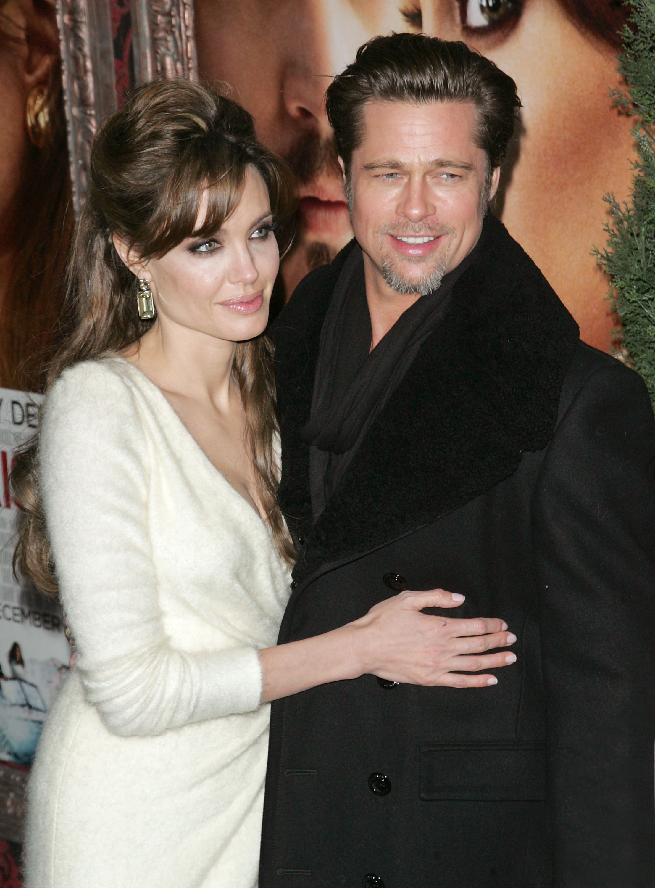 Bronzed Brad Pitt stepped out to support Angelina Jolie's big-screen project in December 2010.