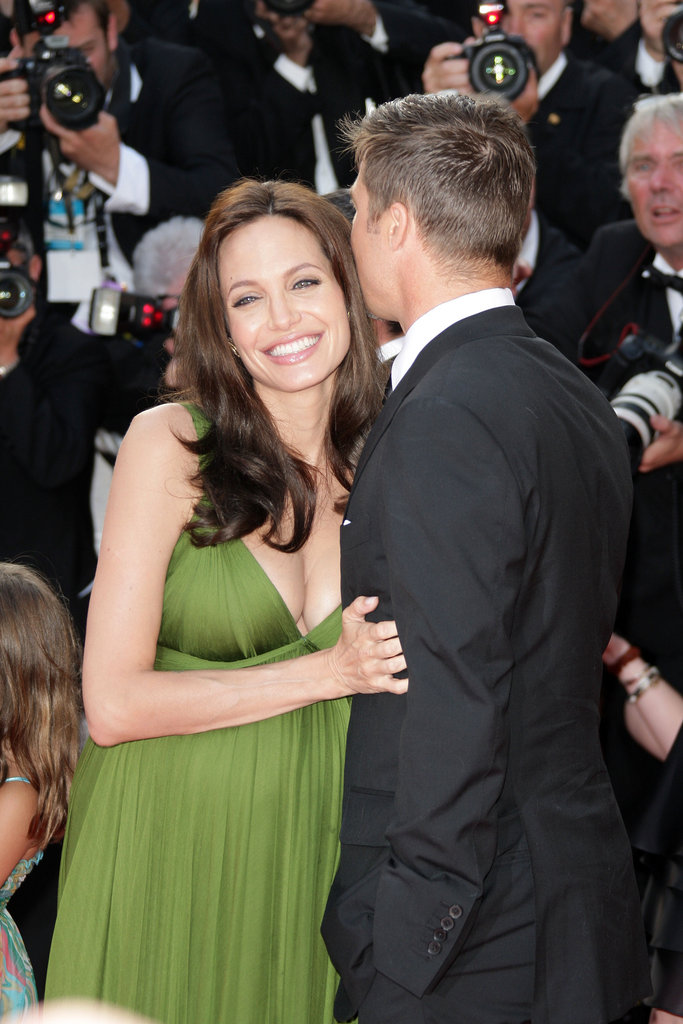 Brad gave his girl a kiss at the Cannes Film Festival in May 2008.