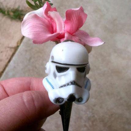 Star Wars Wedding Stormtrooper Boutonniere