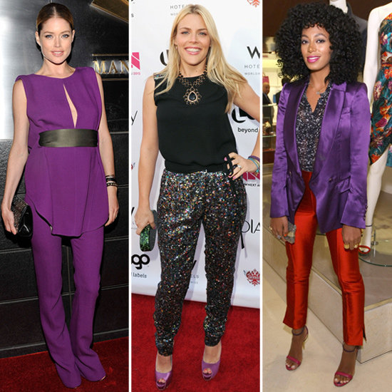 Get inspired to add purple pieces to your closet by these chic celebs.